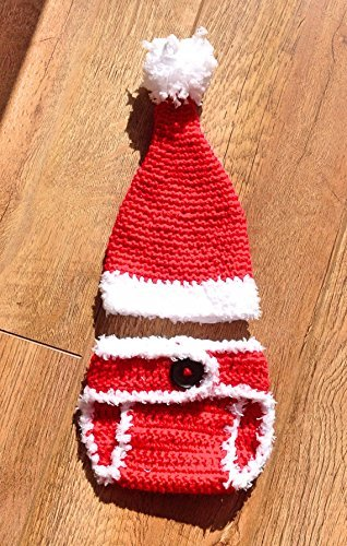 f2f887a8e5f0f Santa Suit Christmas Outfit for Babies and Newborns. Gifts for babies and  photo props. First Christmas gift Diaper Cover and Father Christmas Hat  with ...