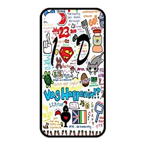 iPhone 4/4S Case, One Direction Hard TPU Rubber Snap-on Case for iPhone 4 / 4S