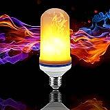 JOLIFILE LED Flame Bulb,Dynamic Fire Effect Light E27/E26 Candles for Holiday Hotel/Bars/ Home Festival Decoration/Restaurants