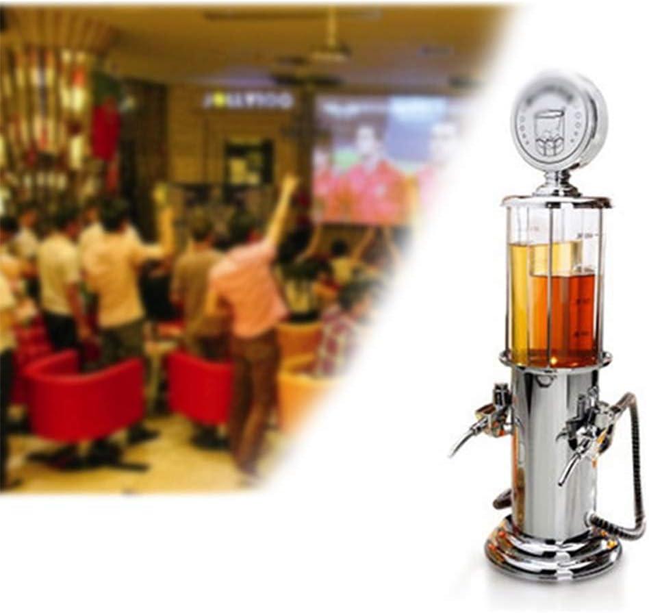 Haoshangzh55 Torre De Cerveza Bebida Dispensador Cromado Diseño Nostálgico Bar Mayordomo De La Bomba De Combustible con La Manguera De La Jirafa Cerveza Torre