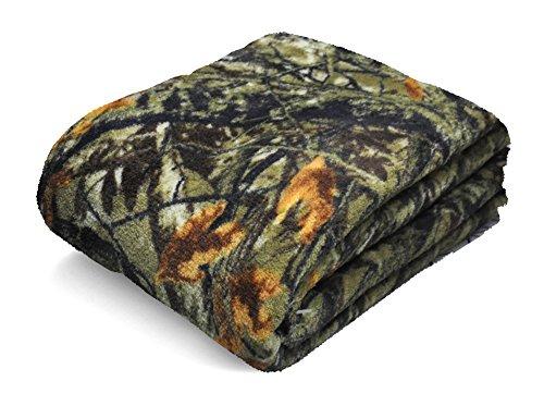 "Price comparison product image Mainstays Plush Throw Blanket 50""x60"" Ozark Trails Camo"