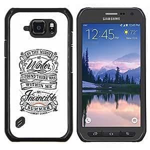 LECELL--Funda protectora / Cubierta / Piel For Samsung Galaxy S6Active Active G890A -- Blanco retro vintage Inspiring verano --