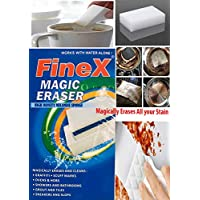 FineX 100 X 60 X 30 mm Melamine Stain Remover Magic Eraser (Multicolour) - Pack of 4