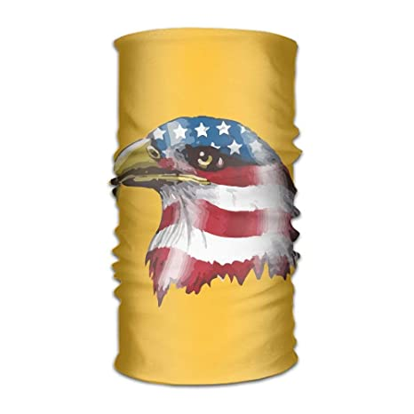 Us Flag Surround Eagle Head Unisex Sports Variety Scarf Head Scarf ...