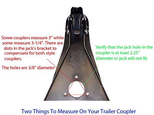 A-Frame Trailer Jack With Wheel And Mounting Hardware