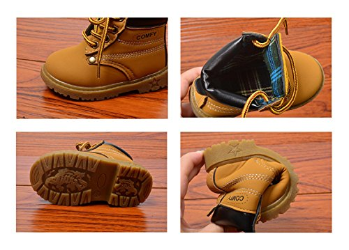 /&Girls Non-slip First Walker PU Leather Martin Boots Baby Shoes Soft Bottom
