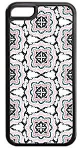 Floral Outlines Pattern - Case for the Apple Iphone 6 Plus Only- Hard Black Plastic Snap On Case