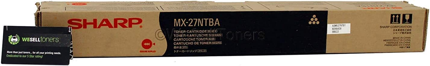 Sharp MX-27NTBA OEM Toner 18000 Yield MX-2300N  MX-2700N MX-3500N Black Toner