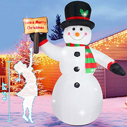 Outdoor Lighted Snowman Family in US - 3