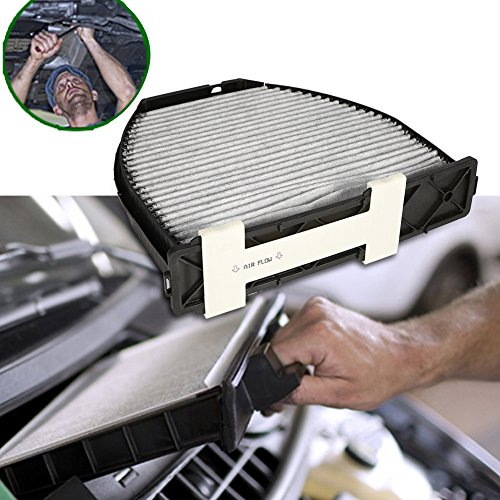 Qiilu Car Cabin Air Filter For Mercedes Benz AMG GT S C250 C300 Includes Activated Carbon (CUK29005) by Qiilu (Image #4)
