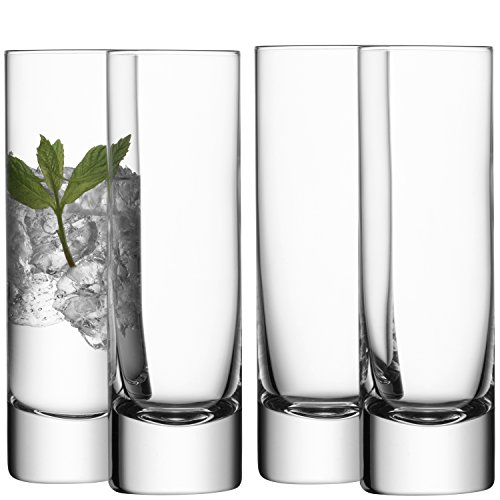 LSA International Bar Long Drink Glass (4 Pack), 8.4 fl. oz., Clear
