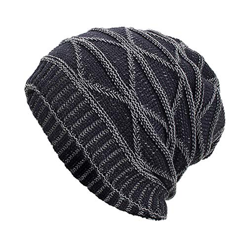 (NRUTUP Winter Hats, Unisex Warm Hat, Skull Cap, Ski Hat - Knit Hat .(Navy,Free Size))