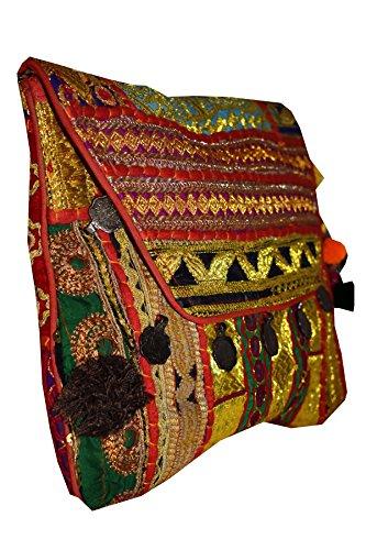Tribal Asian Textiles, Borsa a spalla donna Multi-Color