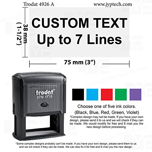 Trodat Inking Rubber Stamps Custom product image