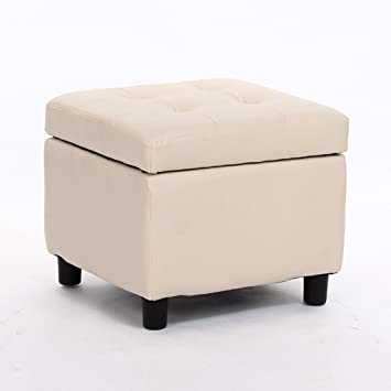 Swell Amazon Com Foot Stool With Lid Square Storage Ottoman 4 Creativecarmelina Interior Chair Design Creativecarmelinacom