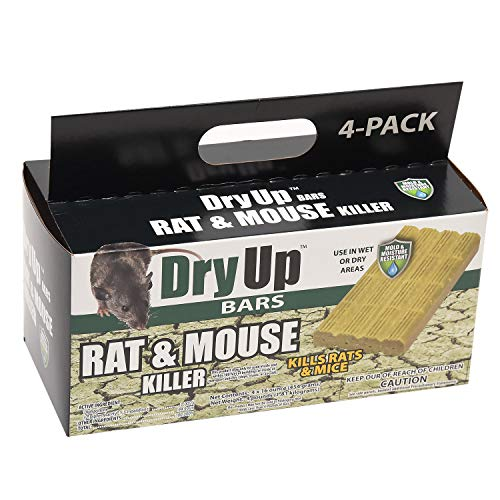 HARRIS Dry-Up Mouse and Rat Killer, 16oz Bait Bars (4-Pack) (Bait Poison Rat)