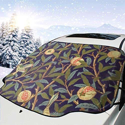 Guava Tree Car Windshield Sunshade with Design Front Auto Car Windshield Sun Shade Folding Silvering Sun Visor