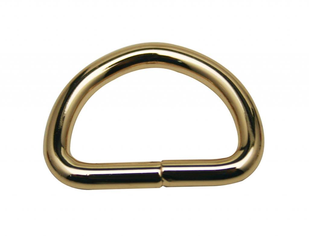 Generic. Metal Golden D Ring Buckle D-Rings 1 Inches Inside Diameter for Backpack Bag Pack of 12 Ailisi