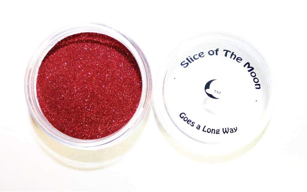 Slice Of The Moon Red Solvent Resistant Glitter Powder, 20g EKS Entertainment Group