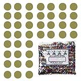Confetti Circle 1/4'' Gold - Half Pound Bag (8 oz) FREE SHIPPING --- (CCP8552)
