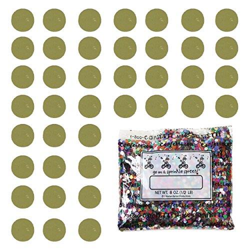 Confetti Circle 1/4'' Gold - Half Pound Bag (8 oz) FREE SHIPPING --- (CCP8552) by Jimmy Jems
