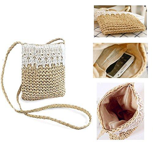 Creux Crochet Mignon D' De Sac Paille Arc Dentelle Plage Sling Abuyall Femmes 1wqZFg18