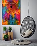 Dream Catcher Small Tapestry Poster Size 40″x30″ Designer Wall Hanging, Poster Dream Catcher, Dreamcatcher Tapestry, Dream Catcher Poster, Cotton Sheet Printed By ANJANIYA (Multi Tie & Dye)