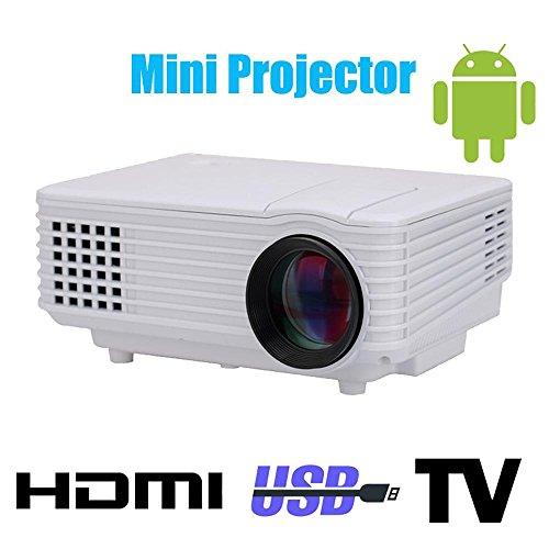 Wifi 3d led mini projector accessories full hd tv home theater projetor video lcd proyector portable pico mircro pocket beamer , white