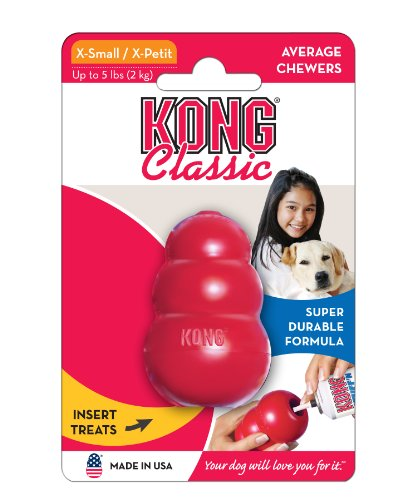 KONG Classic Dog Toy, X-Small, Red, My Pet Supplies