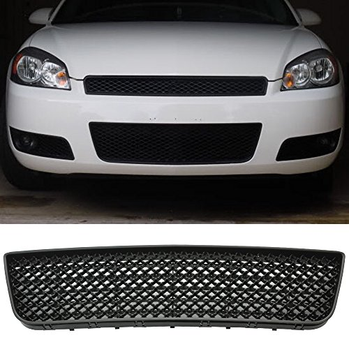 06-09 Chevy Impala Bentley Style Mesh Lower Front Hood Grille Black Bentley Style Mesh Grille