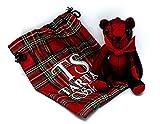 Sir Thomas Bear Bag Keychain Charm (Red)