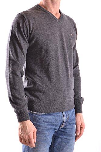 Gant Herren MCBI131064O Grau Wolle Sweater