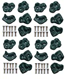 HIKS Plastic Climbing Stones Holds & Grips, Ideal For Climbing Frames, Tree Houses And Kids Climbing Walls (Pack of 20 Grips)