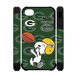 Pink Ladoo? iphone 4 4s Case Phone Cover Hard Plastic NFL Green Bay Packers Snoopy Nike