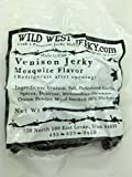 Wild West Jerky #1 Best Premium 100% Natural Grass Fed Hand Stripped 2 OZ. Thick Cut Delicious Tasty Bold Flavor Venison (Deer) Jerky from Utah USA - Wood Smoked with Hickory Wood (Mesquite 1 Pack)