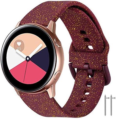 Supore Galaxy Watch Active 40mm riem 20mm siliconen band polsvervangende band met Quick Release voor Galaxy Watch 42mmActive 2Gear S2 ClassicGear Sport SMR600 Smart Watch