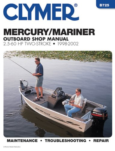 Clymer Mercury/Mariner 2.5-60 HP Two-Stroke Outboards, 1998-2002, B725