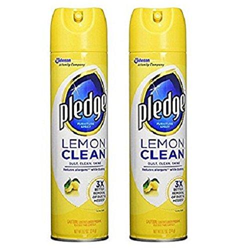 2-Pack Pledge Lemon Clean Furniture Spray