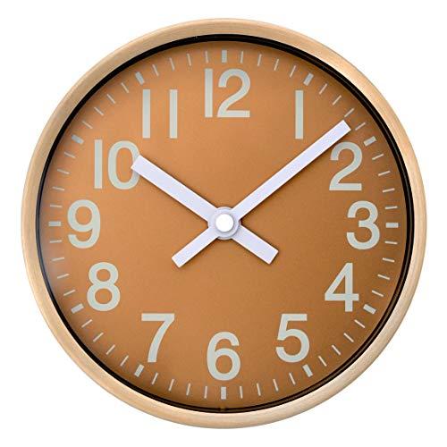 COMODO CASA Wall & Desk Clock- Gold & Silver Frame-Glass Cover-Non Ticking-Quartz Sweep-Silent 6 inch Luxury Clock (Gold) (White White Gold Clock)
