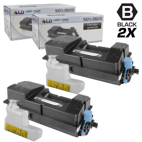 LD © Set of 2 Compatible Kyocera-Mita Black TK-3122 / 1T02L10US0 Laser Toner Cartridges for use in FS-4200DN Printers