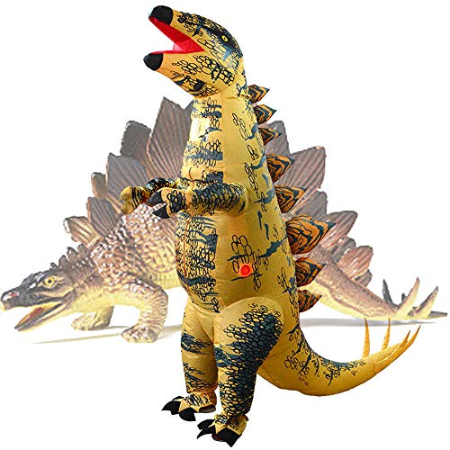 RHYTHMARTS Inflatable Stegosaurus Dinosaur Costume Easter Costumes Blow Up Costume Fancy Drees Suit Party Clothes for Adult]()