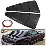 Automotive : For 2005-2014 Ford Mustang Quarter 1/4 Side Window Louver Scoop Cover