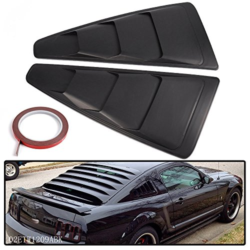 For 2005-2014 Ford Mustang Quarter 1/4 Side Window Louver Scoop Cover ()