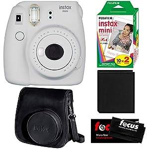 Fujifilm Instax Mini 9 Instant Camera w/Groovy Case, Instax Film Pack (20 Shots) & Photo Album