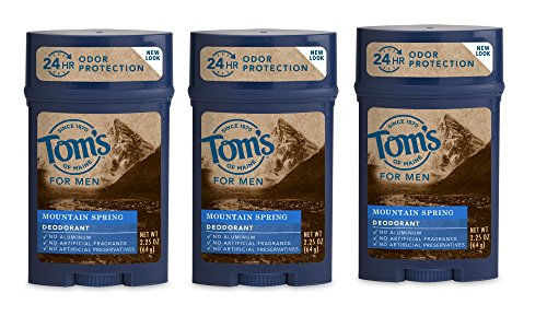 Tom's of Maine 24-Hour Men's Long Lasting Natural Deodorant Multi Pack, North Woods, 3 Count