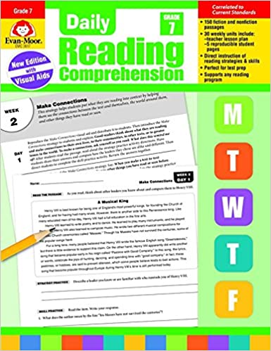 Daily Reading Comprehension Grade 7 Amazonca Evan Moor Educational Publishers Books