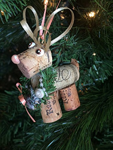 (Wine Cork Seashell Reindeer Christmas Ornament Craft)