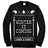 Inspired Winter Coming and Play The Game to get to The Throne Ugly Sweater Long Sleeve Shirt Funny Christmas Printed Adult Sweatshirts, Jumpers, Sweaters