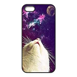 Galaxy Hipster Cat Custom Cover Case for Iphone 5,5S,diy phone case ygtg550953 by lolosakes