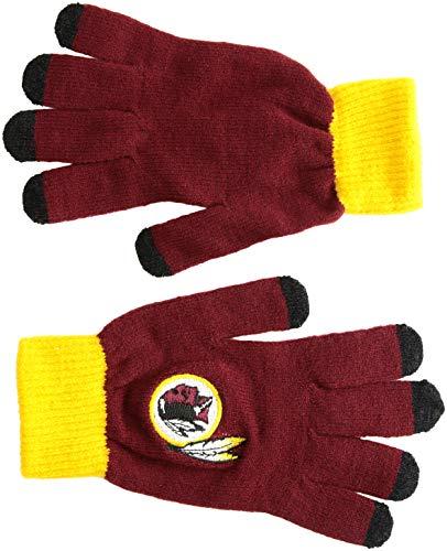 知覚示すマネージャーNFLワシントンレッドスキンズソリッドニット手袋、レッド、1サイズ